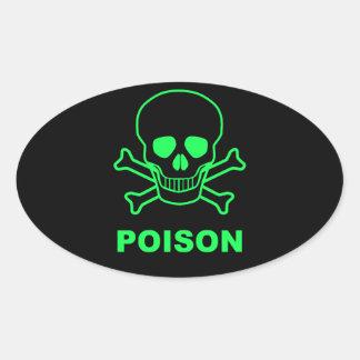 Poison Oval Sticker