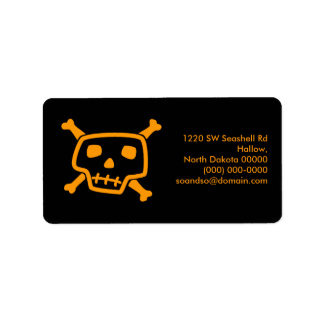 Poison Peter Black Address Label