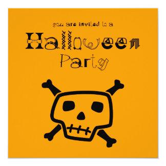"Poison Peter Orange Halloween Party Invitation 5.25"" Square Invitation Card"