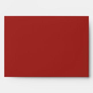 Poison Pink Valentine Cinnabar Red Rose Gold Flap Envelopes