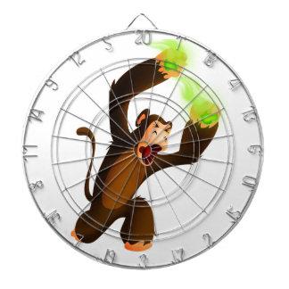 Poison Poo Monkey Dartboard With Darts