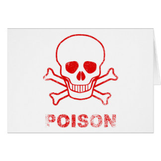 Poison Red Ink Stamp Card