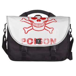 Poison Red Ink Stamp Commuter Bags