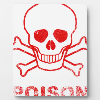 Poison Red Ink Stamp Plaque