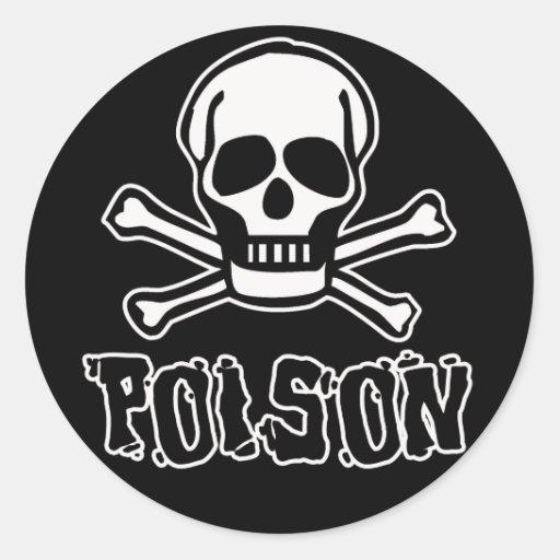 Poison Round Sticker