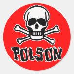 Poison Round Stickers