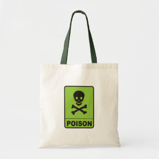poison sign tote bag
