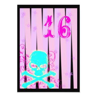 Poison Skull Goth Sweet 16 Birthday Invitation