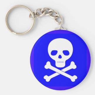 Poison Symbol Basic Round Button Keychain