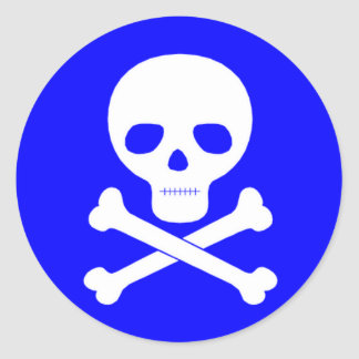 Poison Symbol Classic Round Sticker