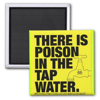 poison tap water 2 inch square magnet