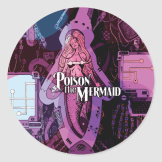 Poison the Mermaid band sticker