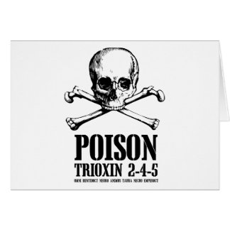 Poison Zombie Trioxin 3-4-5 Dawn of the Dead Greeting Card