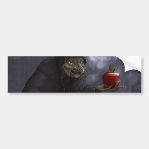 Poisoned apple bumper stickers