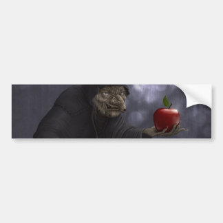 Poisoned apple car bumper sticker