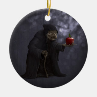 Poisoned apple ceramic ornament