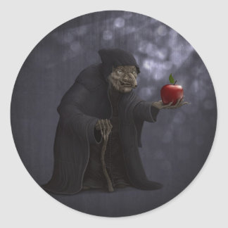 Poisoned apple classic round sticker