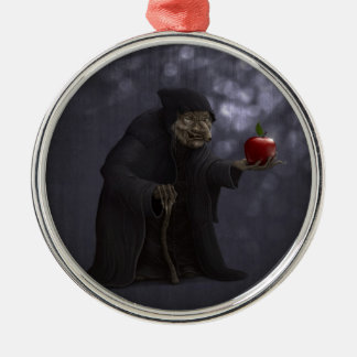 Poisoned apple metal ornament