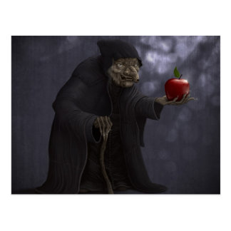 Poisoned apple postcard