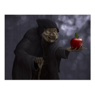 Poisoned apple postcard