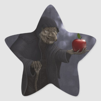 Poisoned apple star sticker