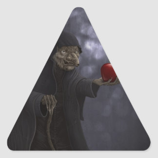 Poisoned apple triangle sticker