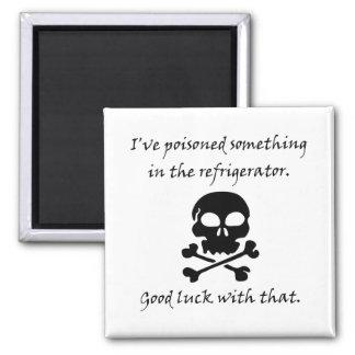 Poisoned Refrigerator Skull Magnet