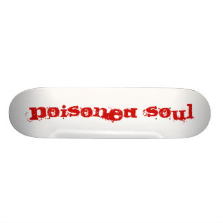 Poisoned soul red skate deck