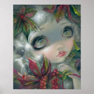 Poisonous Beauties 8:  Castor Bean Fairy Art PRINT
