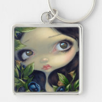 poisonous beauties, poisonous, beauty, big eye, deadly nightshade, deadly, nightshade, poison fairy, belladonna, jasmine becket-griffith, artsprojekt, poison, berry, berries, black, dark, night, big eyed, jasmine, becket-griffith, becket, griffith, strangeling, artist, goth, gothic, fairy, gothic fairy, faery, fairies, faerie, fairie, lowbrow, low brow, big eyes, fantasy art, original, lowbrow art, surrealism, Keychain with custom graphic design