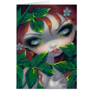 """""""Poisonous Beauties IV: Poison Ivy"""" Greeting Card"""