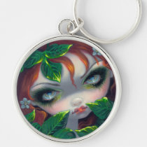 poisonous beauties, poison ivy, poison ivy fairy, poison, ivy, poisonous, beauty, redhead, big eye, poison fairy, artsprojekt, botanical, botany, flower, big eyed, jasmine, becket-griffith, becket, griffith, jasmine becket-griffith, beckett, jasmin, strangeling, artist, goth, gothic, fairy, gothic fairy, faery, fairies, faerie, fairie, lowbrow, low brow, big eyes, strangling, fantasy art, original, lowbrow art, pop, Keychain with custom graphic design
