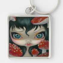 poisonous beauties, fly, agaric, fly agaric, mushroom, mushroom fairy, magic mushrooms, poison fairy, jasmine, becket-griffith, artsprojekt, amanita, muscaria, hallucinogenic, red, spotted, poisonous, beauty, big eye, botanical, botany, flower, big eyed, becket, griffith, jasmine becket-griffith, beckett, jasmin, strangeling, artist, goth, gothic, fairy, gothic fairy, faery, fairies, faerie, fairie, lowbrow, low brow, Keychain with custom graphic design