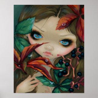 Poisonous Beauties X:  Virginia Creeper ART PRINT