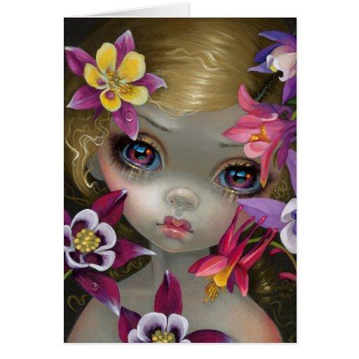 """Poisonous Beauties XIII: Columbine"" Greeting Card"