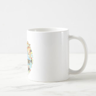 Poisonous mushroom and twitter of sparrows coffee mug