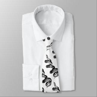 poisonous snake neck tie