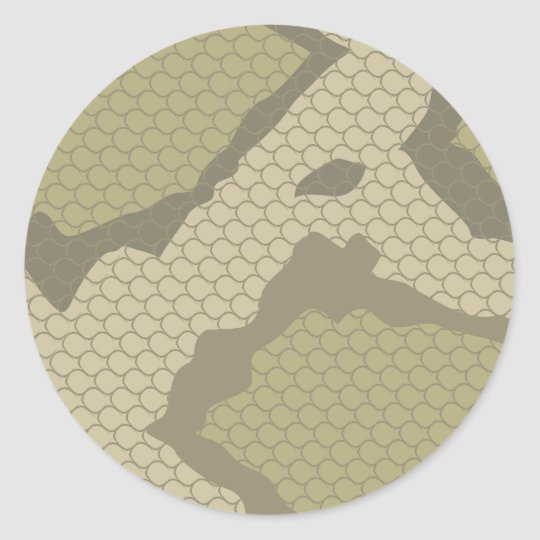 Poisonous Snake Scales Classic Round Sticker