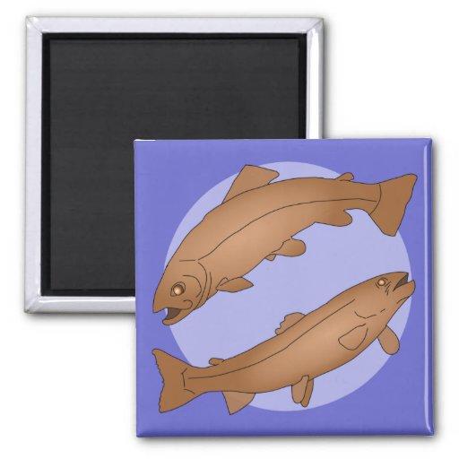 Poisson 2 Inch Square Magnet