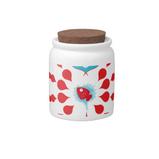 Poisson in love candy jar