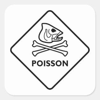 Poisson Square Sticker