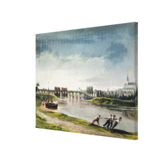 Poissy, from 'Views on the Seine', engraved by Tho Canvas Print