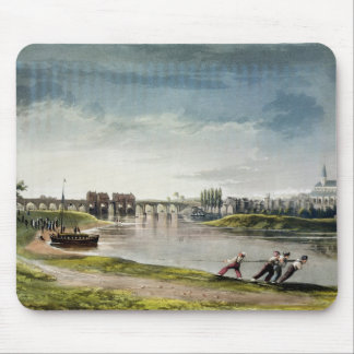 Poissy, from 'Views on the Seine', engraved by Tho Mouse Pad