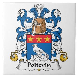 Poitevin Family Crest Ceramic Tile