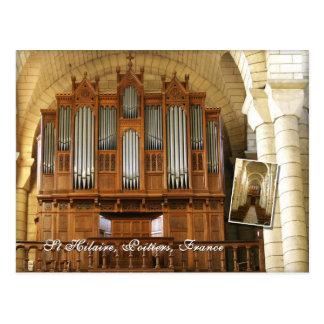 Poitiers organ postcard