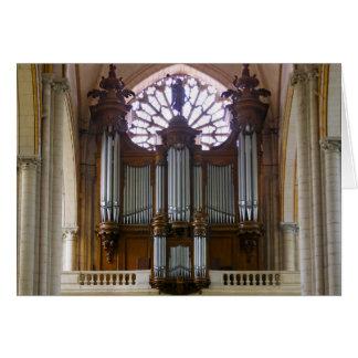 Poitiers pipe organ card