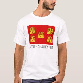 Poitou-Charentes flag with name T-Shirt