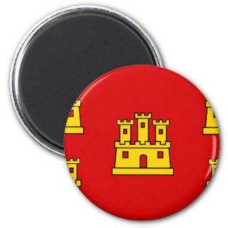 Poitou-Charentes, France flag 2 Inch Round Magnet