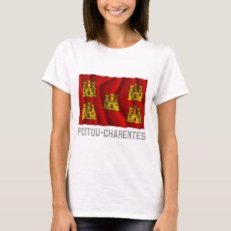 Poitou-Charentes waving flag with name T-Shirt