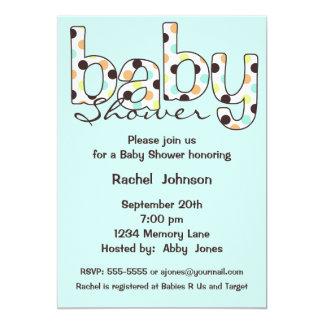 Poka Dot Baby Shower Invitation